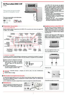 thermostat thermoflash digital notice manuel d. Black Bedroom Furniture Sets. Home Design Ideas