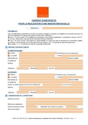 contrat de construction de maison individuelle modele | segu maison - Modele De Contrat De Construction De Maison Individuelle