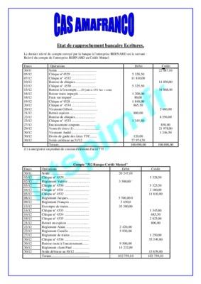 Etat De Rapprochement Bancaire Exercice Et Corrige Pdf Notice Manuel D Utilisation