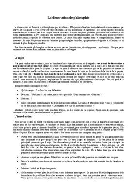Dissertation de philo exemple