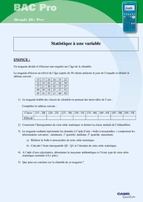 Exercice Et Corige De Statistique Desciptive.pdf notice ...