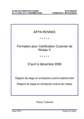 Rc formateur notice manuel d 39 utilisation for Formateur en cuisine
