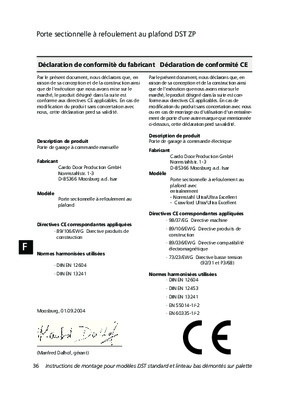 Notice de montage porte de garage notice manuel d 39 utilisation - Montage porte de garage ...