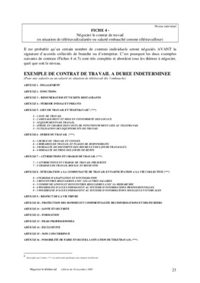Modele Contrat De Travail Cdi Pdf Zalischyky