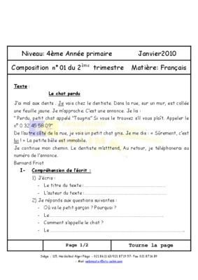 Exercice 4eme Annee Primaire.pdf notice & manuel d'utilisation