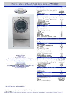 whirlpool awm1000 service notice manuel d 39 utilisation. Black Bedroom Furniture Sets. Home Design Ideas