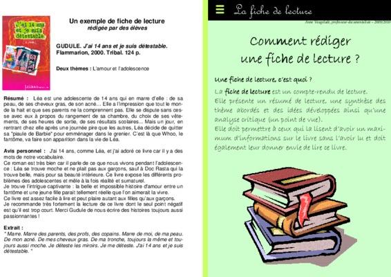 Exemple Fiche De Lecture Ifsi.pdf notice & manuel d ...