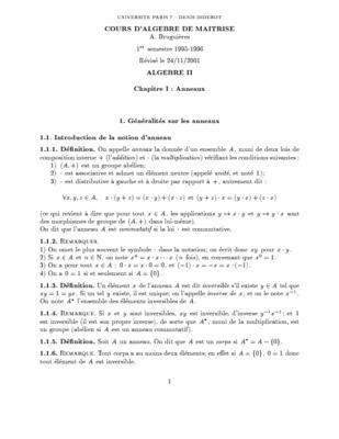 Prépa maths. Algèbre-géométrie. 1. PDF - PDF