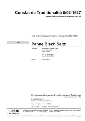 Tuile bisch gr notice manuel d 39 utilisation for Tuile bisch panne