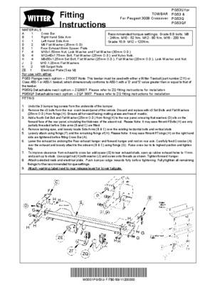 montage attelage notice manuel d 39 utilisation. Black Bedroom Furniture Sets. Home Design Ideas