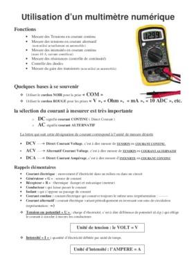 Utilisation multimeter numerique pdf reader