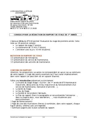 Exemple De Rapport De Stage 1ere Tisec.pdf notice & manuel ...
