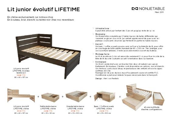 montage lit evolutif notice manuel d 39 utilisation. Black Bedroom Furniture Sets. Home Design Ideas