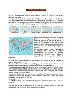 Exercices Svt Sur La Tectonique Des Plaques.pdf notice & manuel d'utilisation
