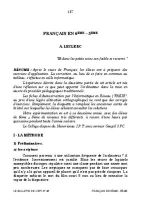 Exercice De Francais 6eme Sur Les Adverbe Listes Des ...