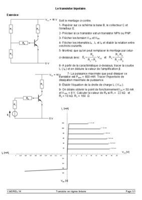 Transistor fonctionnement pdf