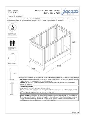 plan de montage lit combine bebe notice manuel d 39 utilisation. Black Bedroom Furniture Sets. Home Design Ideas
