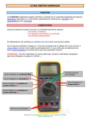 Comment utiliser un multimetre pdf