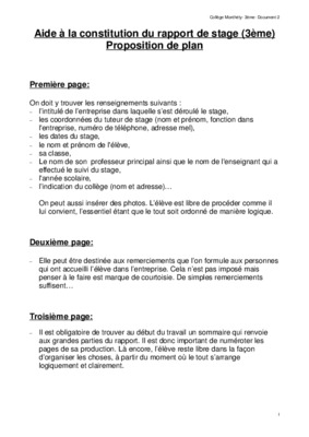 Rapport de stage 3eme notice manuel d 39 utilisation - Rapport de stage cabinet d avocat exemple ...