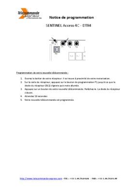 sentinel notice manuel d 39 utilisation. Black Bedroom Furniture Sets. Home Design Ideas
