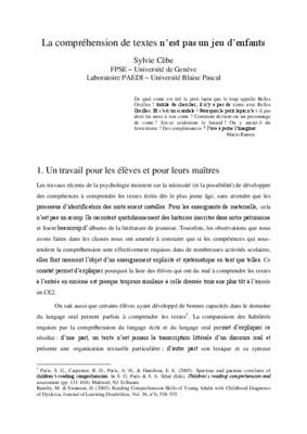 etude de texte ce2 pdf