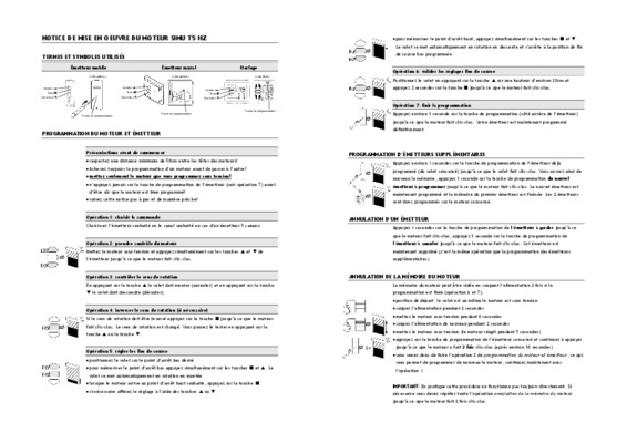notice programmation moteur tubauto procom notice manuel d 39 utilisation. Black Bedroom Furniture Sets. Home Design Ideas