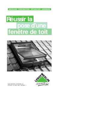 Pose fenetre notice manuel d 39 utilisation for Lapeyre fenetre de toit