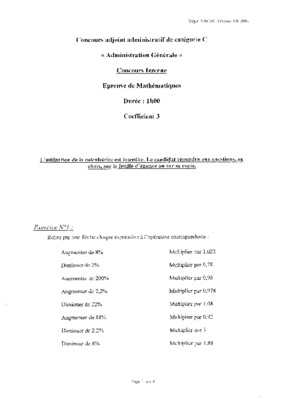 Concours adjoint cadre notice manuel d - Grille indiciaire adjoint administratif hospitalier 2015 ...