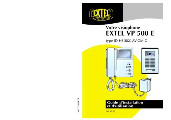 interphone extel cablage montage 5 fils notice. Black Bedroom Furniture Sets. Home Design Ideas