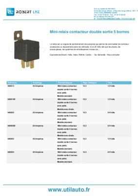 relais double 307 notice manuel d 39 utilisation. Black Bedroom Furniture Sets. Home Design Ideas