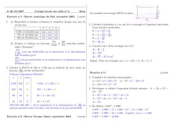 Cned devoir 7 maths 3eme | digiSchool devoirs