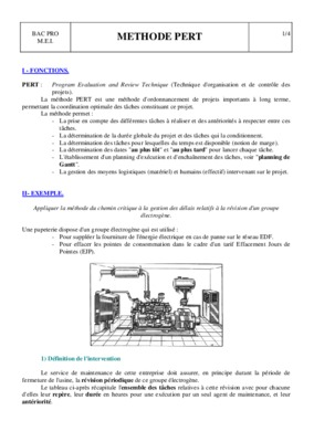 Td Sur La Methode Pert Et Mpm Exercices Corrige.pdf notice ...
