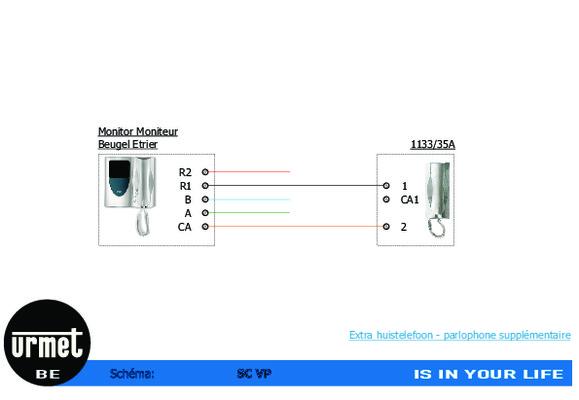 Interphone urmet 1133 notice manuel d 39 utilisation for Urmet 1133 schema