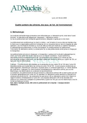 Qualité alimentaire pdf