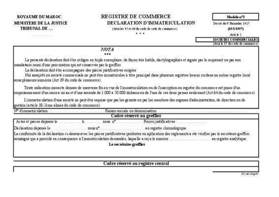 Code du commerce maritime notice manuel d - Immatriculation chambre de commerce ...