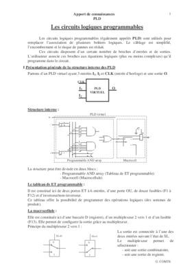 Exercices circuits notice manuel d 39 utilisation for Circuit logique pdf