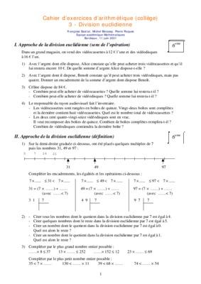 exercices corriges division euclidienne de math de 2eme annee notice manuel d. Black Bedroom Furniture Sets. Home Design Ideas