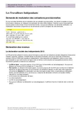Declaration revenus professionnels notice - Declaration revenus meubles non professionnels ...