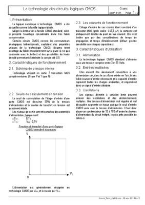 Exercices circuits notice manuel d 39 utilisation for Circuit logique cmos