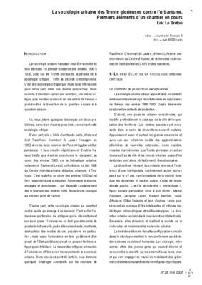 Dissertation sociologie exemple
