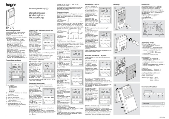 Thermostat thermoflash digital notice manuel d - Thermoflash digi 2 ...