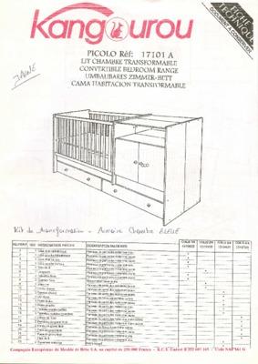 Montage lit notice manuel d 39 utilisation for Chambre kangourou