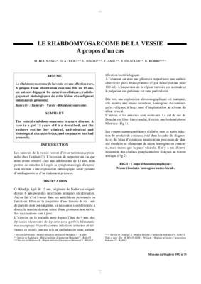 tumeur de la vessie pdf