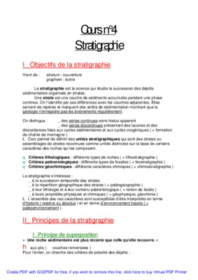 Cours de la stratigraphie pdf