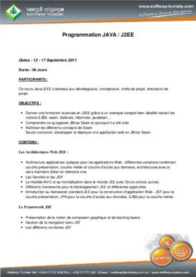 cours java j2ee debutant pdf