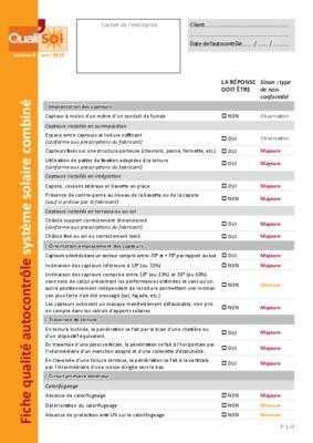 Fiche Autocontrole Installation Electrique Bureau Pdf