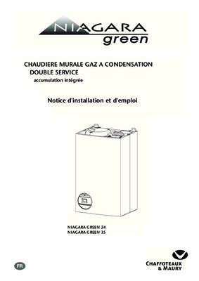 chaffoteaux maury niagara delta notice manuel d 39 utilisation. Black Bedroom Furniture Sets. Home Design Ideas