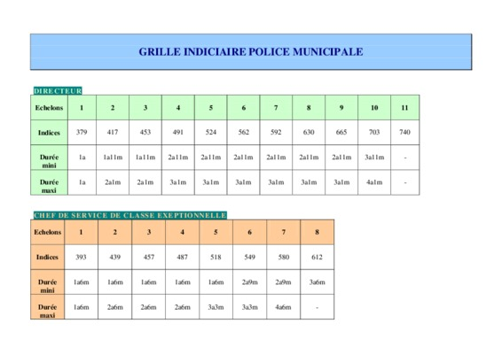 Grille indiciaire retraite police notice - Grille indiciaire education nationale categorie c ...