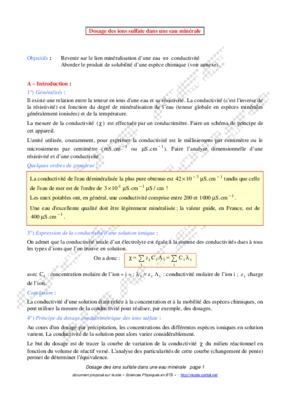 Dosage sulfate dans notice manuel d 39 utilisation - Dosage sulfate de cuivre piscine ...