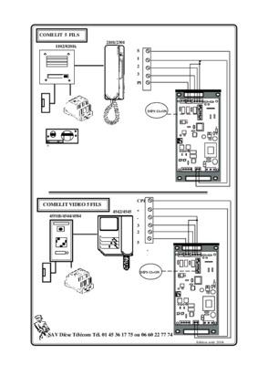 schema cablage comelit 5 fils pdf notice  u0026 manuel d